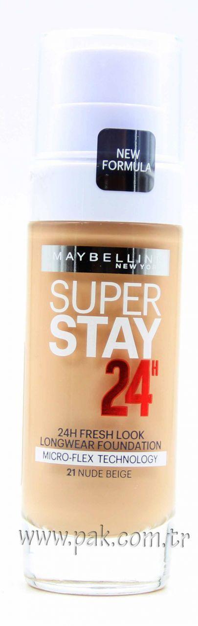 Maybelline Superstay 24H Fondöten 21 Nude Beige