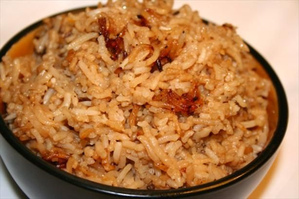 brown rice: put 1 can french onion soup, 1 can beef consommé, 1 cup white rice, 1 stick butter into casserole dish and bake at 350 for one hour...absolutely delicious!