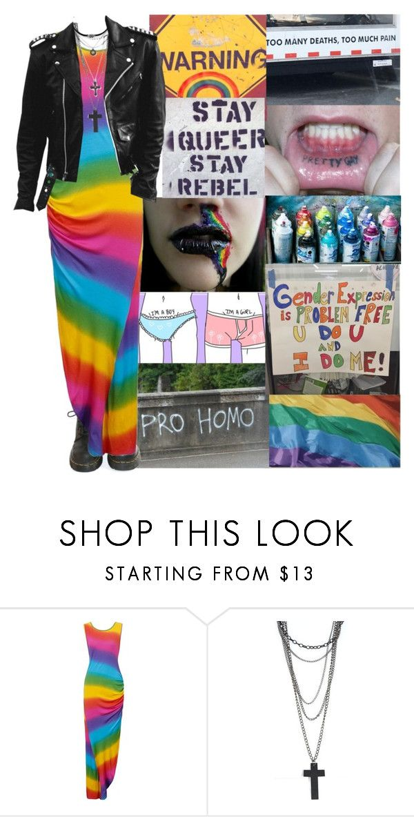 """""""LGBTQ+"""" by anastaziah2014 ❤ liked on Polyvore featuring GET LOST, Dr. Martens, Forever 21 and modern"""