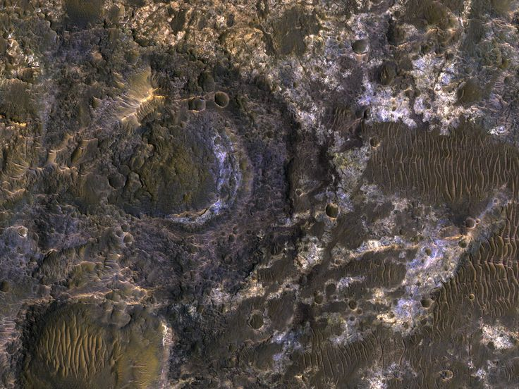 Clays of Ladon BasinLadon Basin was a large impact structure that was filled in by the deposits from Ladon Valles, a major ancient river on Mars.  These wet sediments were altered into minerals such as various clay minerals. Clays imply chemistry that...