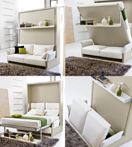 Amazing Italian Space Saving Furniture, that allows you to place full size  furniture like sofas - 25+ Best Ideas About Space Saving Furniture On Pinterest Outdoor