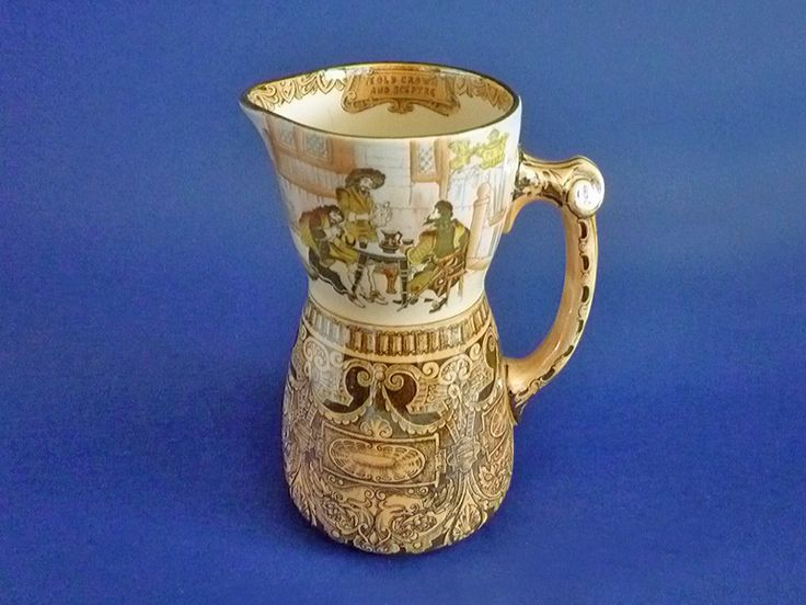 Early Doulton Burslem 'Jacobean' Series Ware Jug D1011 c1901