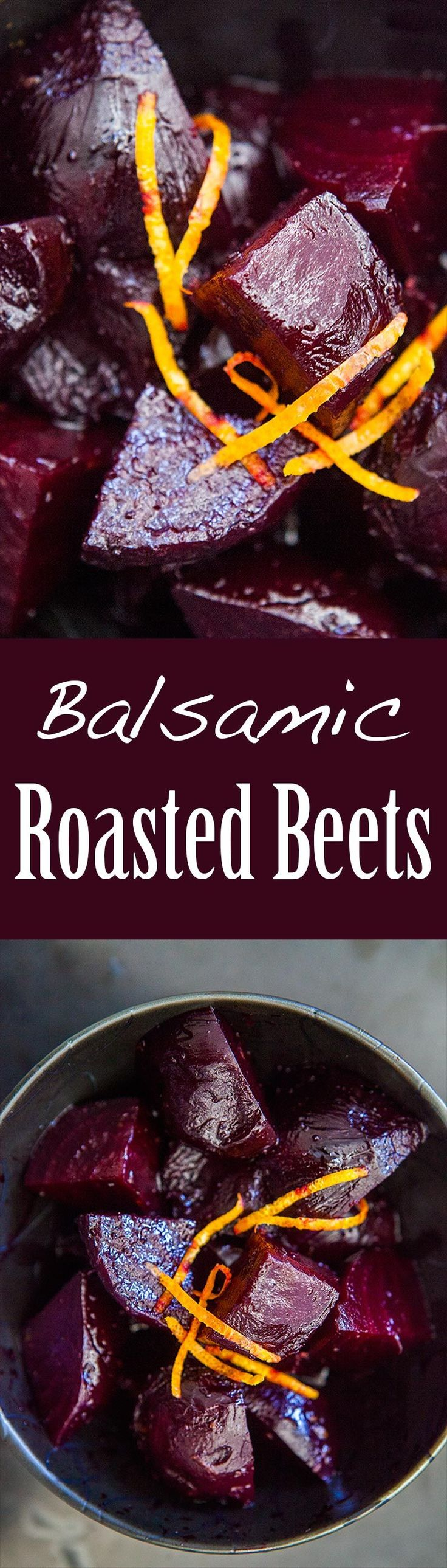 Roasted Beets with Balsamic Glaze ~ Ruby red beets, oven roasted, then tossed with a little orange zest and a balsamic glaze. ~ SimplyRecipes.com