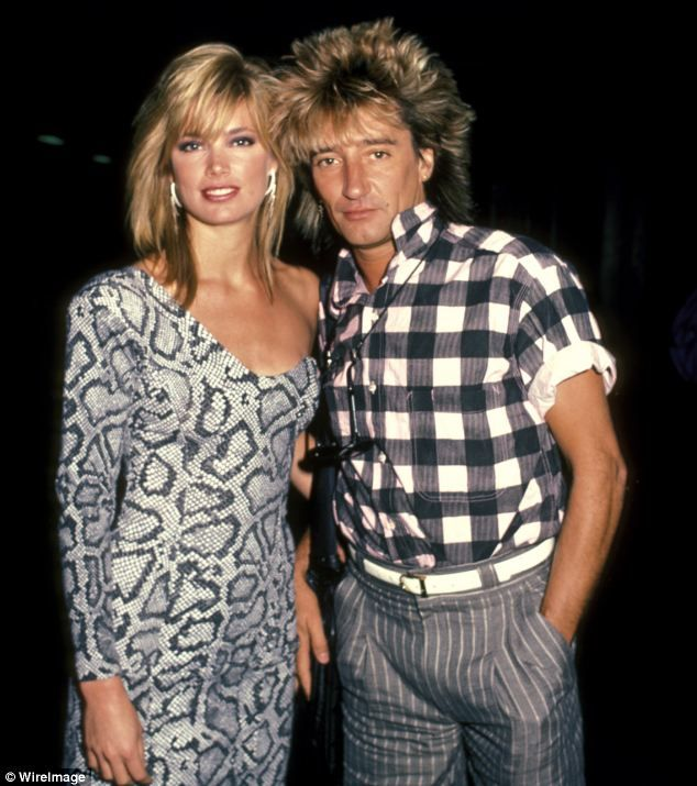 I WANT ROD STEWART HAIR!! Besotted: When Rod Stewart met Kelly Emberg he knew he was hooked on the young model