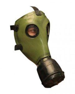 Grüne Gasmaske für den Zombie Walk