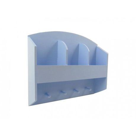 Półka blue 2Drewniana półka, pomalowana na kolor błękitny. Idealna do przechowywania kuchennych drobiazgów, przypraw, czy łazienki.  100% home made with love. Wymiary:40 x 9 x 33 cm