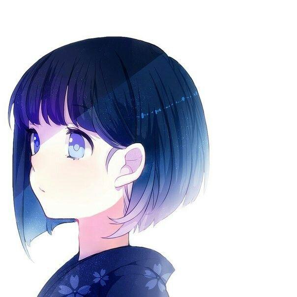 Girl anime cabelo curto