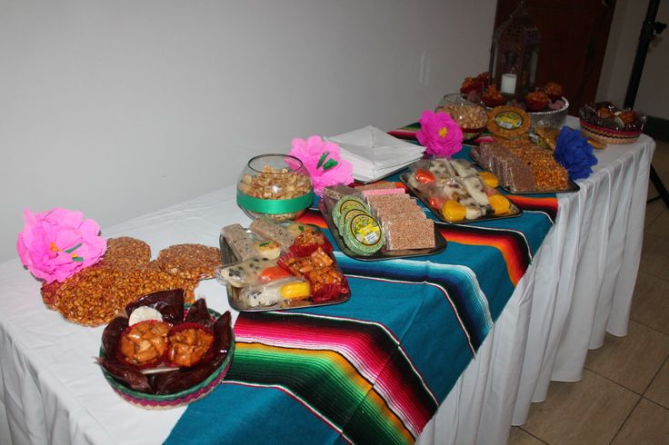 Mesa de dulces tipicos mexicanos fiesta mexicana - Como decorar una mesa para una fiesta ...