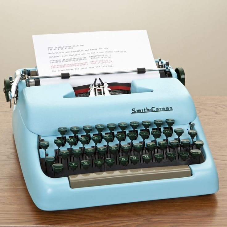 Refurbished and Repainted Smith Corona Typewriter Excellent Working Condition #SmithCorona