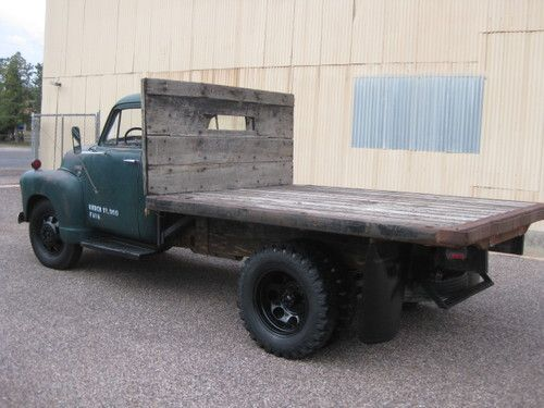 1951 Chevy 3800 short flat bed, Arizona truck, time capsule original,  4 speed, image 5