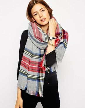 ASOS Scarf In Grey Tartan Check (this one is out of stock, but that's what I need to look for next!)