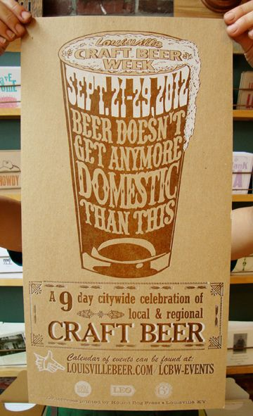 First Year (traditional) - paper  Hound Dog Press Craft Beer Festival Poster