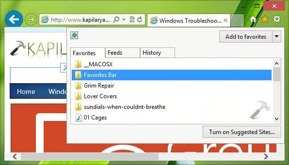 [FIX] Favorites Keeps Rearranging Themselves In Internet Explorer 10, 11