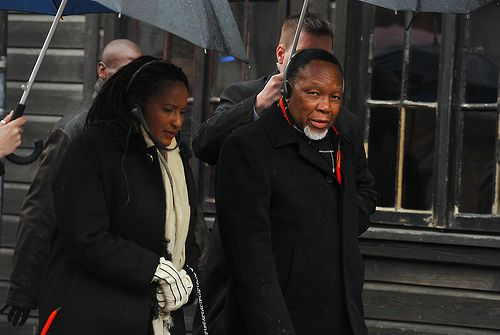 Deputy President of South Africa Kgalema Motlanthe visits the Auschwitz Memorial on March 15, 2014.
