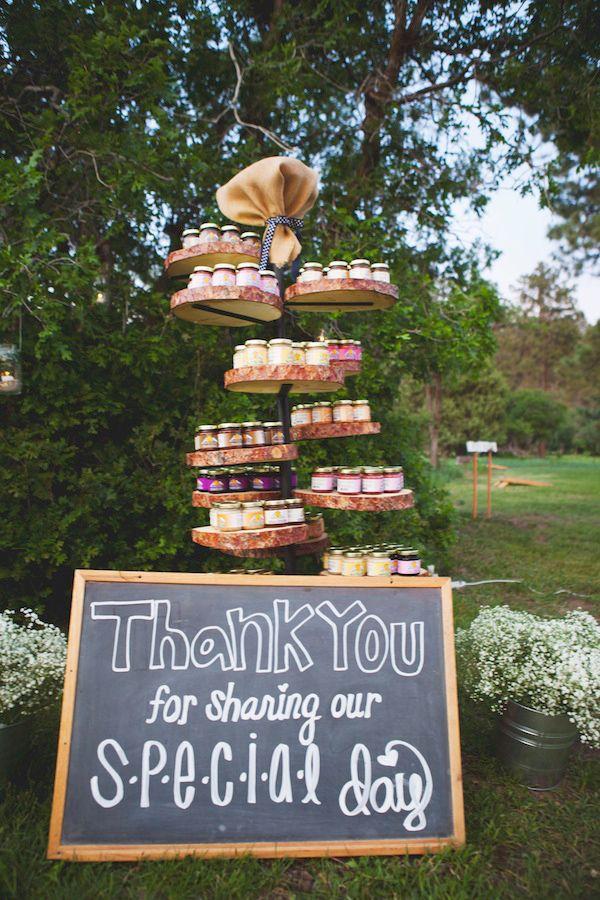 country wedding favor ideas