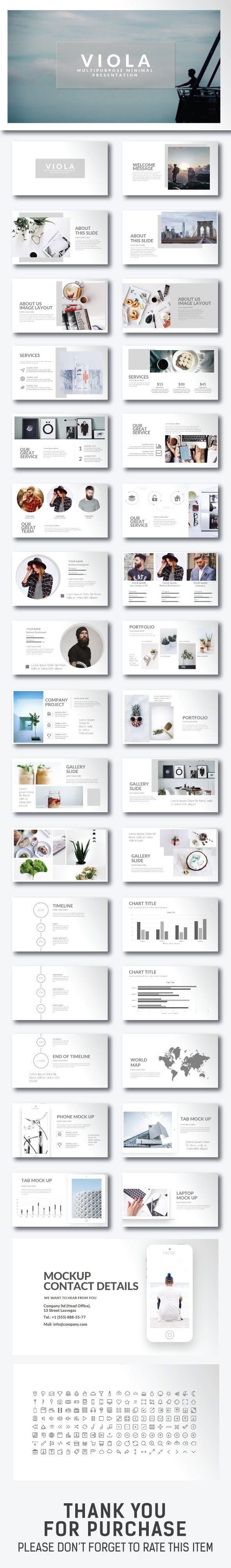 Viola Minimal Presentation - Creative PowerPoint Templates