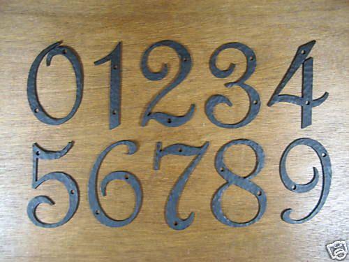 spanish revival hammered iron address numbers by Bushereironstudio, $24.00