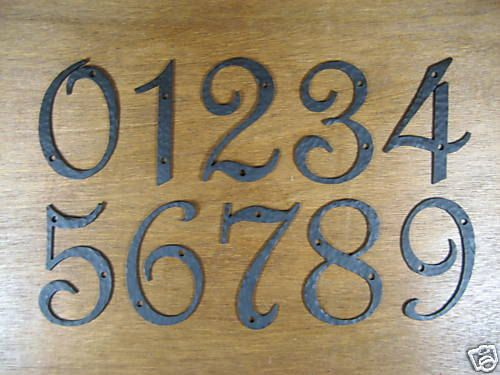 Spanish Style House Numbers