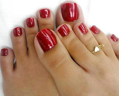 Bold Red Toenail Inspiration!  If you have a toenail fungus problem, come to Beautiful Toenails in Southfield, MI!  Call (248) 945-1000 TODAY to set up an appointment with us or visit our website www.toenailfungu.pro to find out more information!