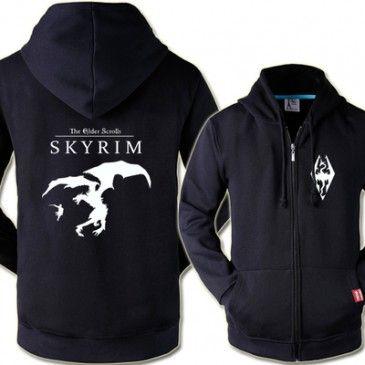 The Elder Scrolls 5: Skyrim Logo Cool Zip Up Hoodies