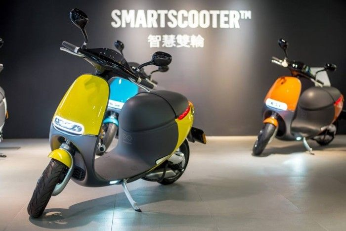 Gogoro Smart Scooters are the world's first and only scooter that run on batteries that you can exchange when yours is flat.