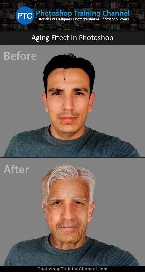 Learn how to make someone look older in Photoshop! Fun and easy to follow technique. Try it out!