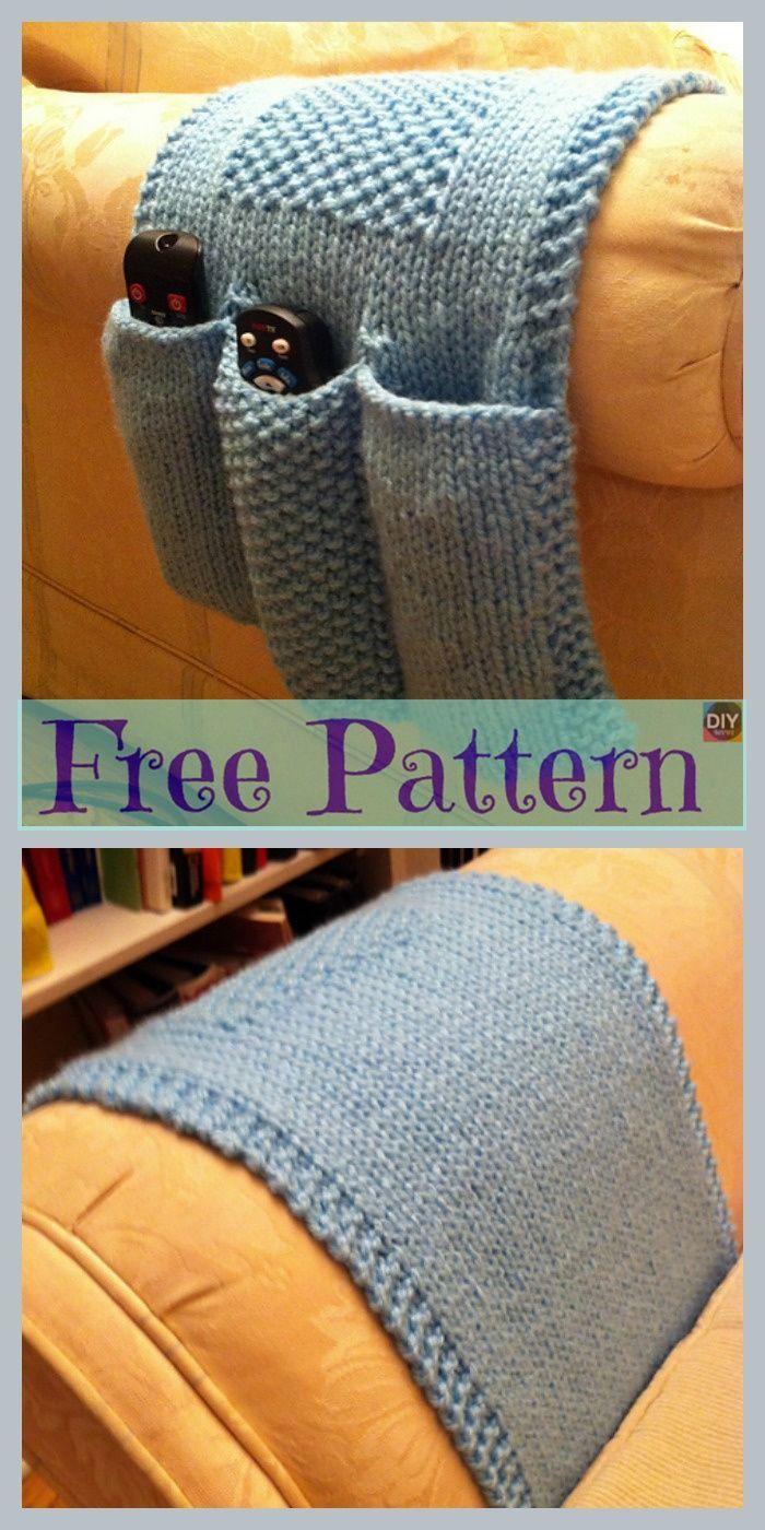 Knit & Crochet Remote Caddy – Free Patterns