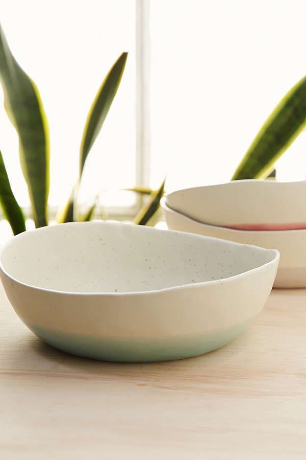 Speckled Dip Bowl - Handcrafted ceramic bowl with an organic edge. Topped with a speckled glaze and a dipped finish - [ad]