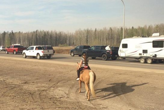 16-year-old rides horse to safety in midst of Fort McMurray wildfire.