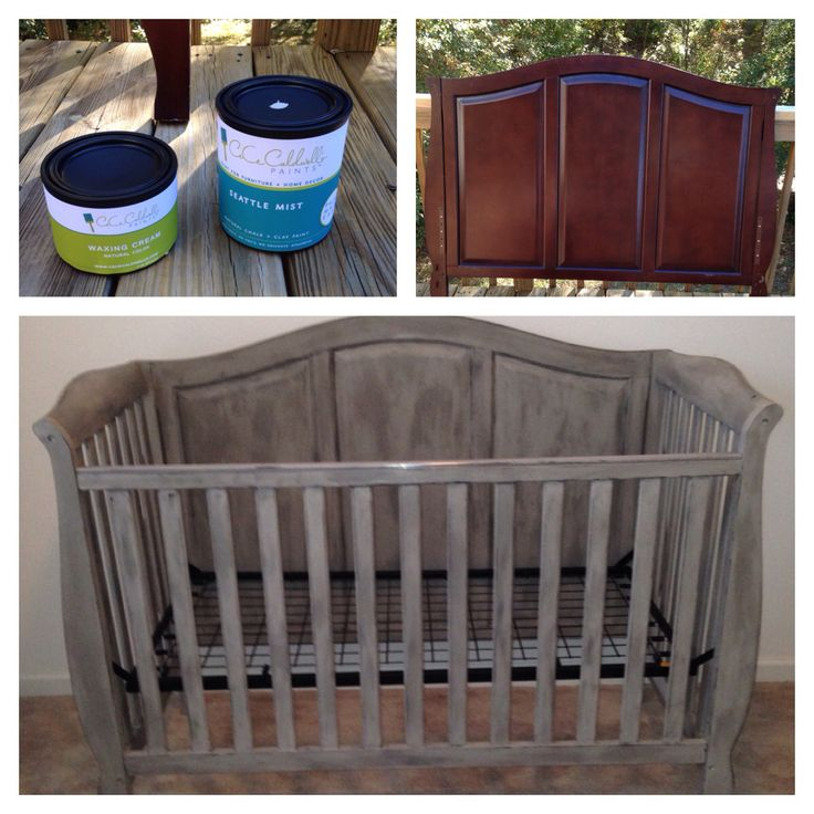 DIY painted crib CeCe Caldwell chalk paint