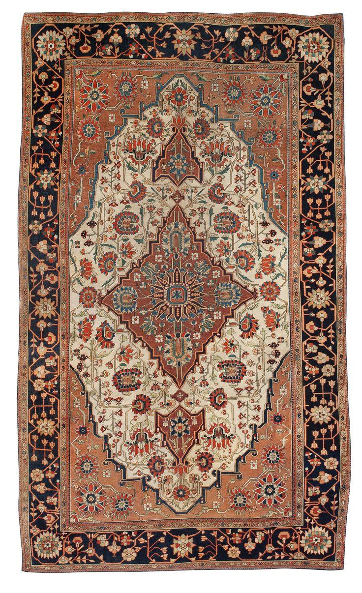 Persian Kashan Mohtashem rug Persian carpet, Rugs on
