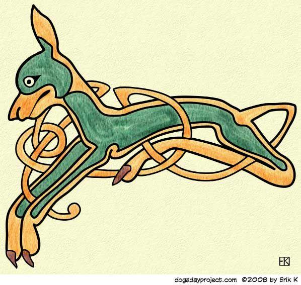 Celtic Knot Dog   A Dog a Day