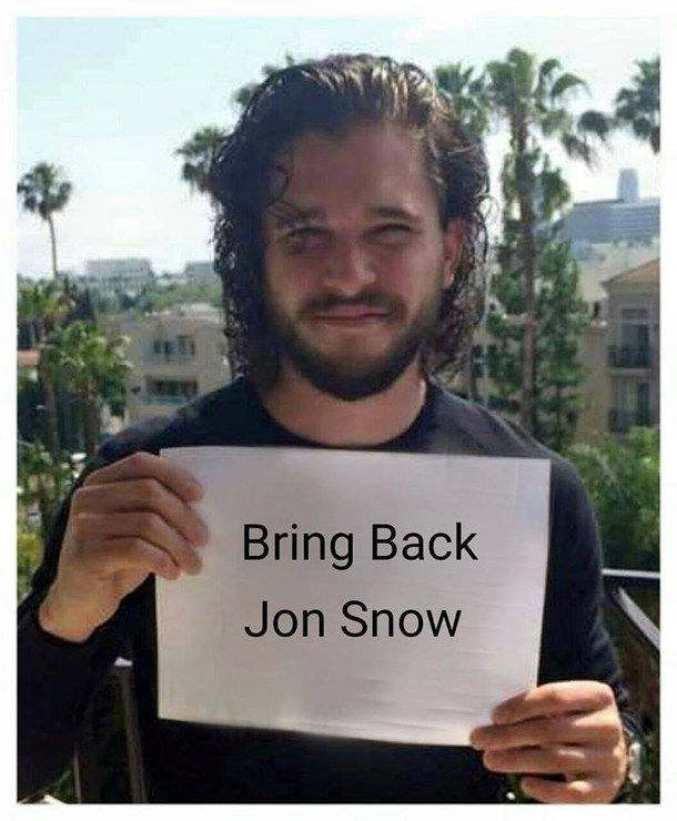 alive, dead, game of thrones, got, jon snow, kit harington, you know nothing, bring back jon snow