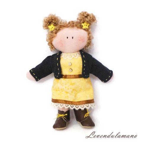 """Star"" sárga ruhás baba (Levendulamano) - Meska.hu"