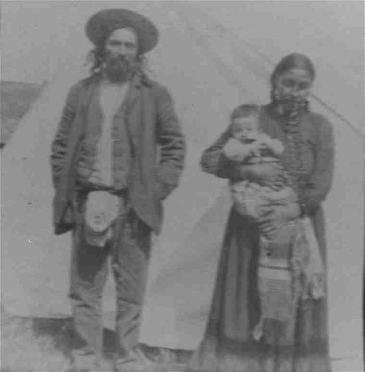 Native Ontario Plants: A Photograph Of A Metis? Man With A Cree? Woman And Her