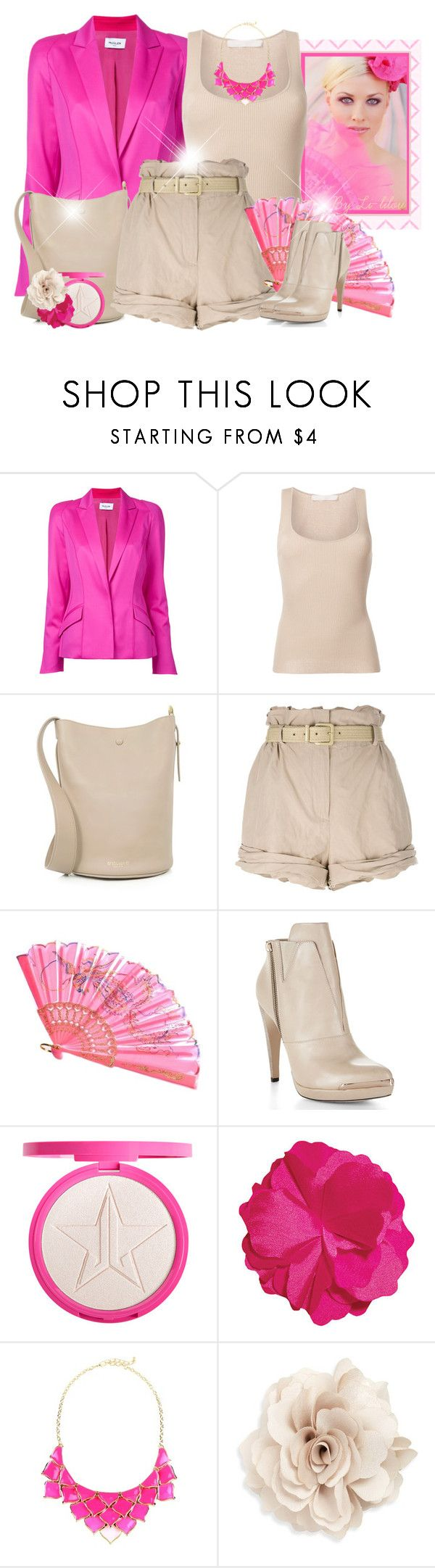 """""""~Un peu de pep's!~"""" by li-lilou ❤ liked on Polyvore featuring Thierry Mugler, Dion Lee, 10 Crosby Derek Lam, Moschino, Hervé Léger, George J. Love and Cara"""