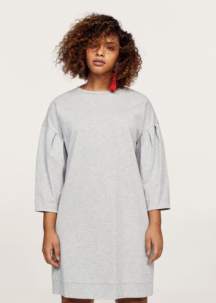 Pleats sweatshirt dress | VIOLETA BY MANGO