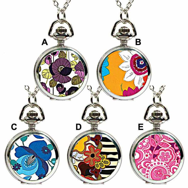 Ask Alice Psychedelic Fob Watch Pendant Necklace