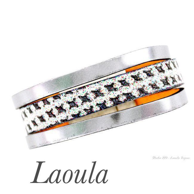 Bracelet en cuir marron femme 269439