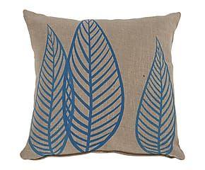 Coussin NATURA polyester, écru et bleu - 45*45