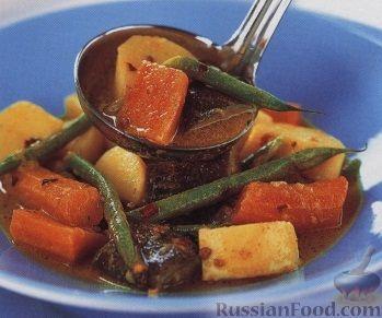 Рецепт: Пряное овощное рагу с кокосовым молоком на RussianFood.com