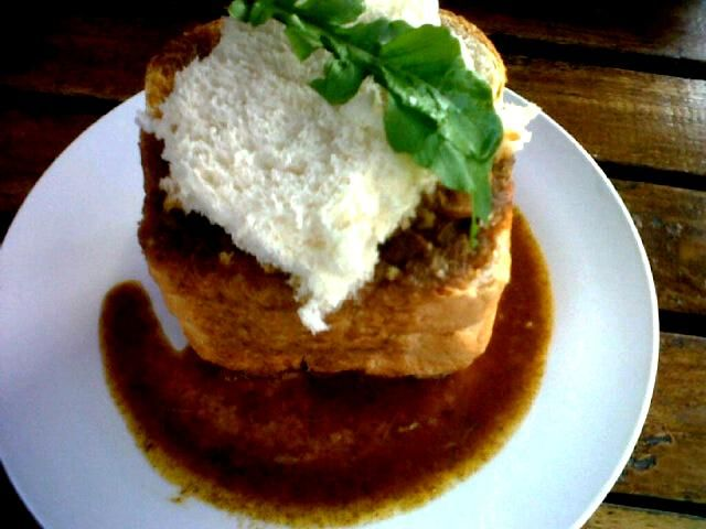 Famous Lamb Bunny Chow from Lilly's Bread Bin in Margate