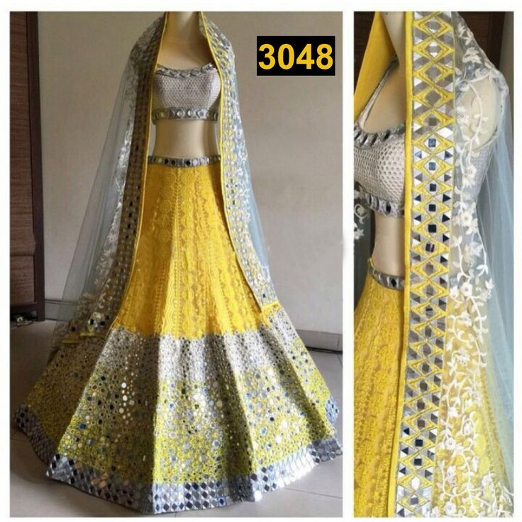 Yellow Heavy Lehenga : http://gunjfashion.com/ Watsapp Now : 90998 23943