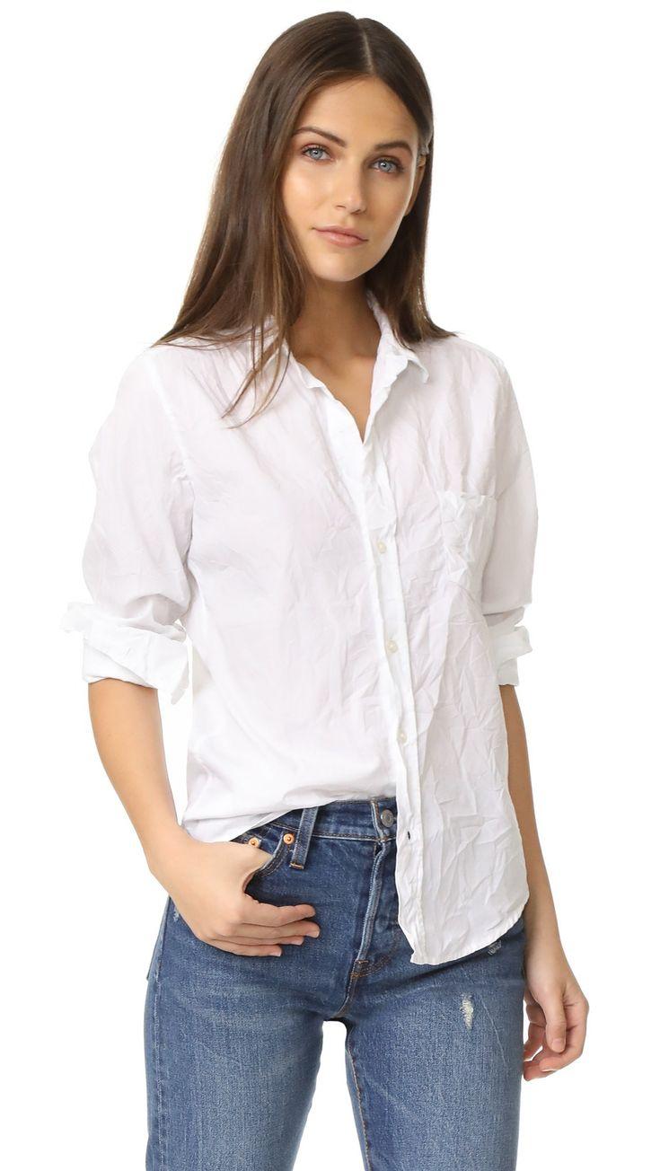 women's white button down dress shirts