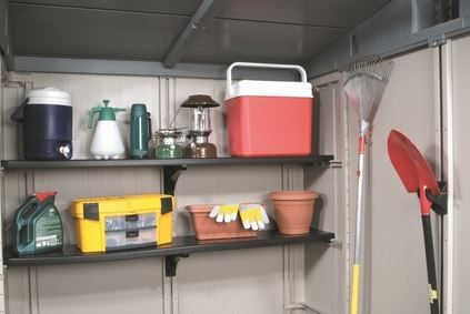 Need to get the inside of your Keter Shed a little more organised? Look no further than the 6ft Accessory Kit - which includes 2 Shelves, 2 Shelf Brackets and 4 Tool Hangers. Compatible with the Factor 6x3, Factor 6x6, Factor 8x6 and Factor 8x11 Sheds.