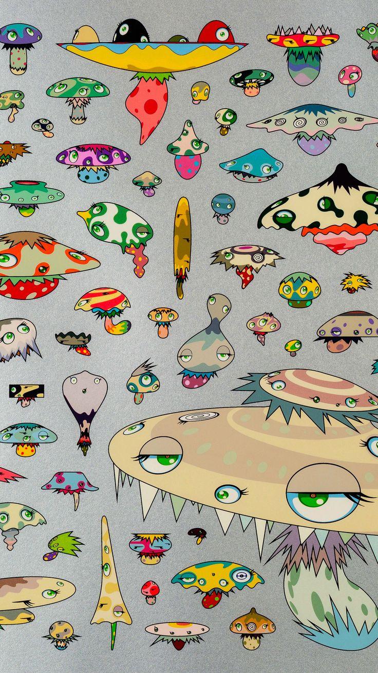Takashi Murakami (b. 1962). Detail from Champignons
