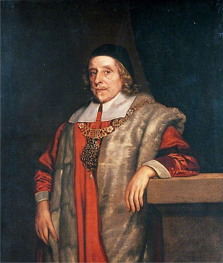 Sir Thomas Vyner (1588–1665).  John Michael Wright (1617–1694) (circle of).  Christ's Hospital.