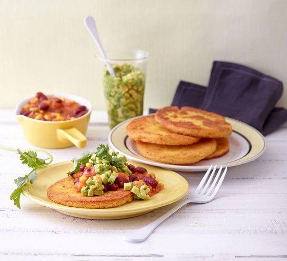 Mexikanische Polenta-Taler mit Chili und Guacamole - Vegane Rezepte: Hauptspeisen - 1 - [ESSEN & TRINKEN]