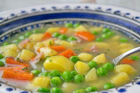 Erbsensuppe aus dem Schnellkochtopf - Rezept