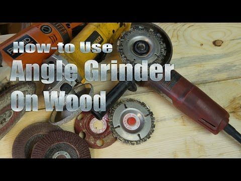 How-to Use Your Angle Grinder on Wood by Mitchell Dillman http://logfurniturehowto.com/tool-box/power-tools/angle-grinder/ highlights several popular methods...